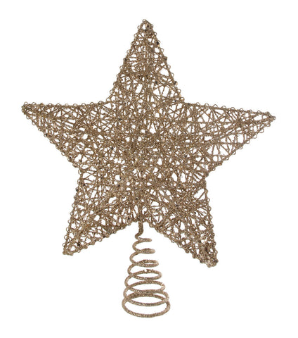 Gold Metal Wire Christmas Tree Top Star