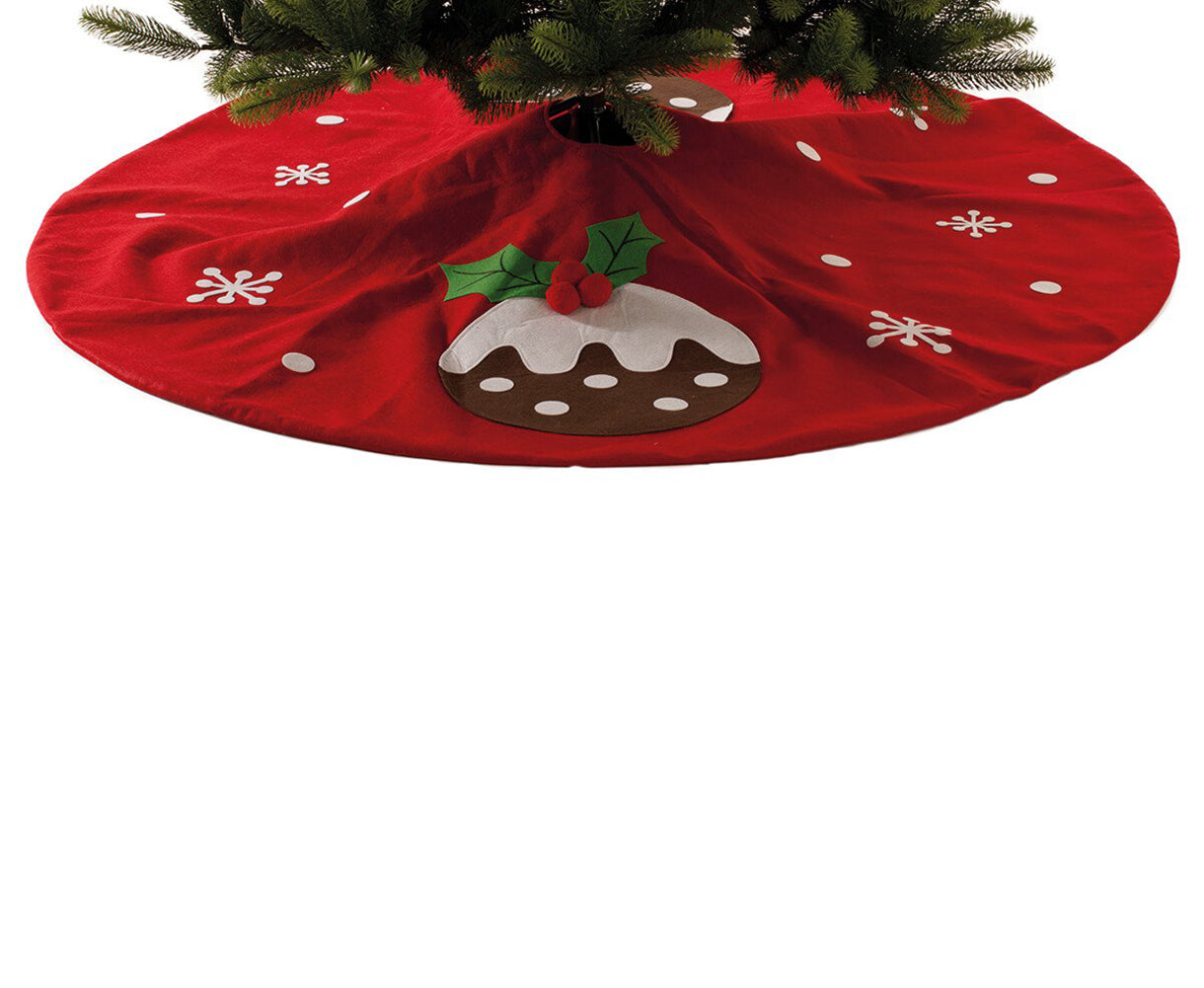 Xmas Pudding Christmas Tree Skirt 140cm