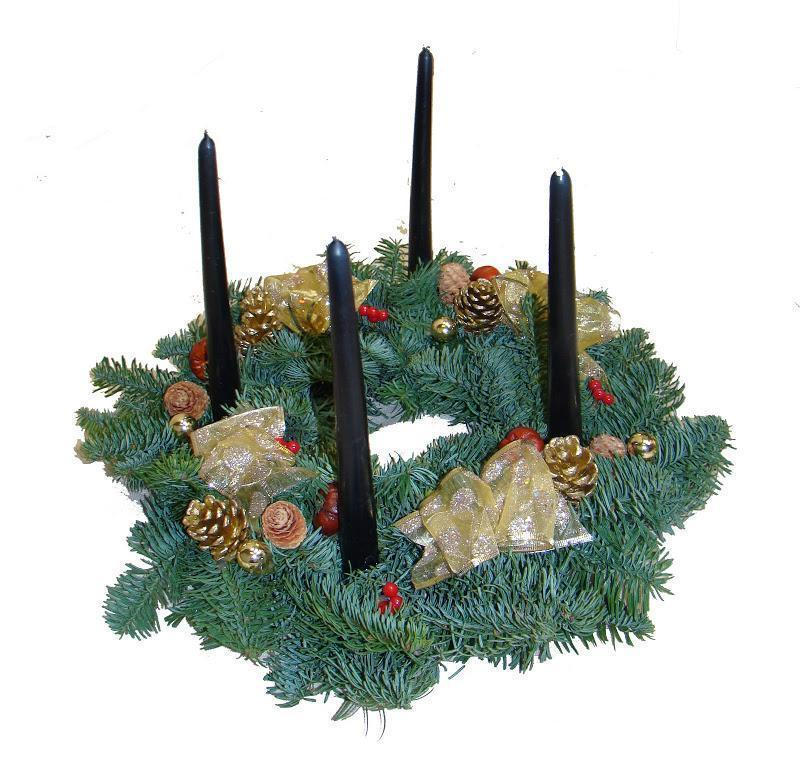 Advent Table Top Real Christmas Wreath