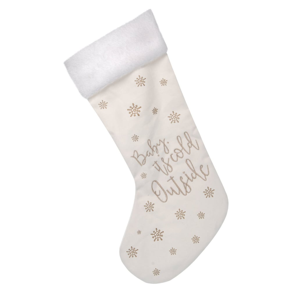 Baby It's Cold Outside Christmas Stocking from Pines and Needles