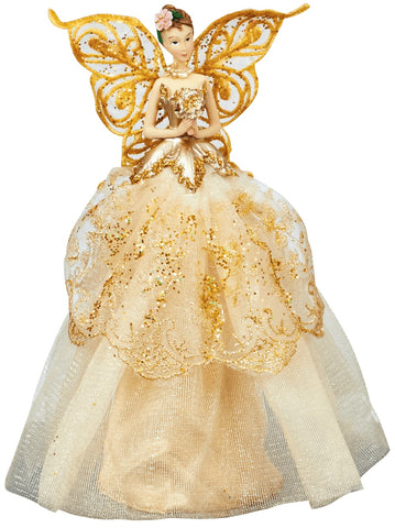 Champagne Gold Angel Topper - Christmas Tree Decorations