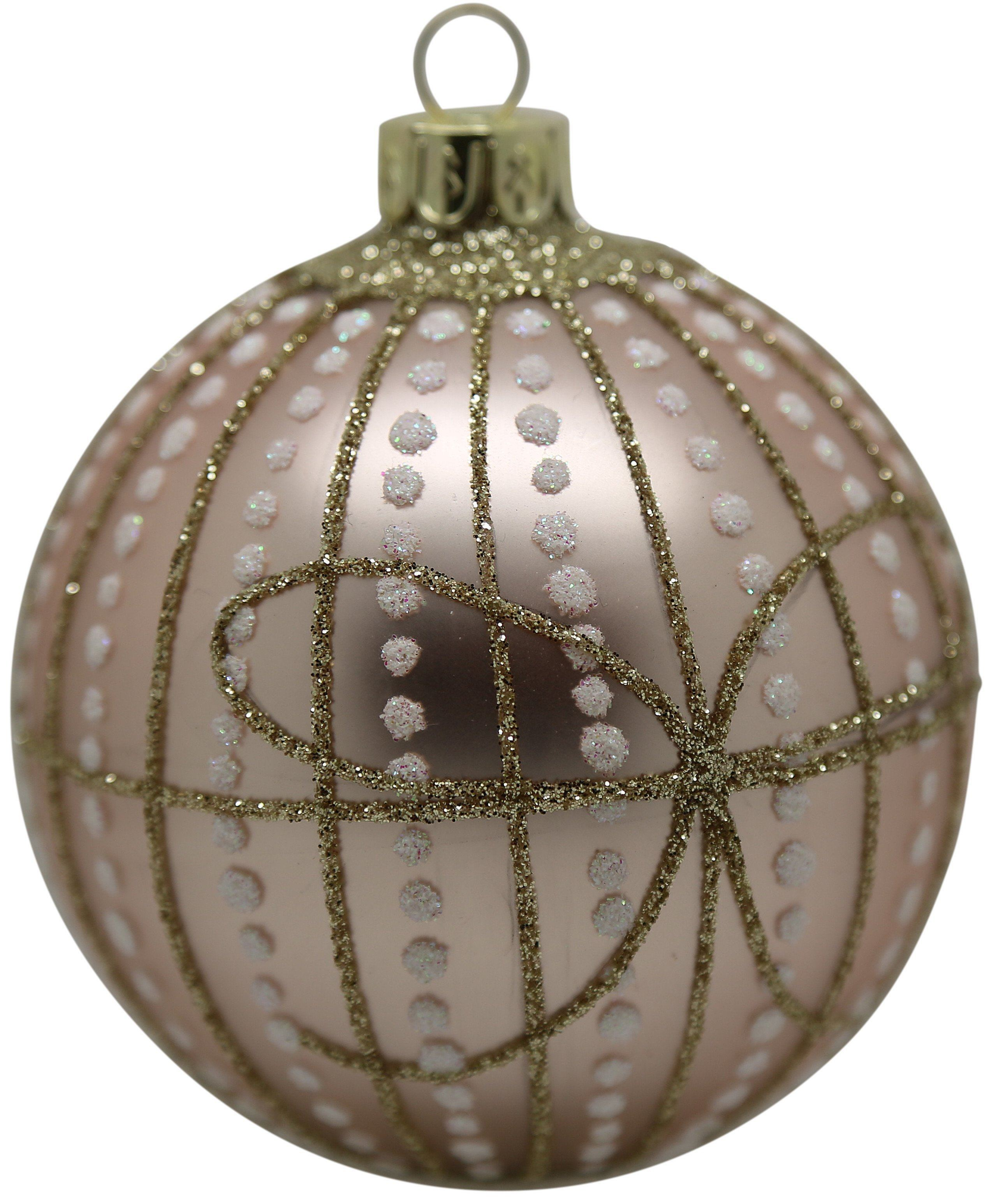Christmas Tree Decoration Dusky Pink 1940's Vintage Bow Ball