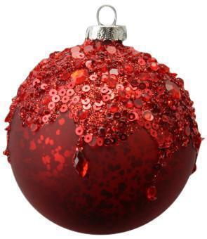 Christmas Tree Decoration Gisela Graham Crushed Bead Ball