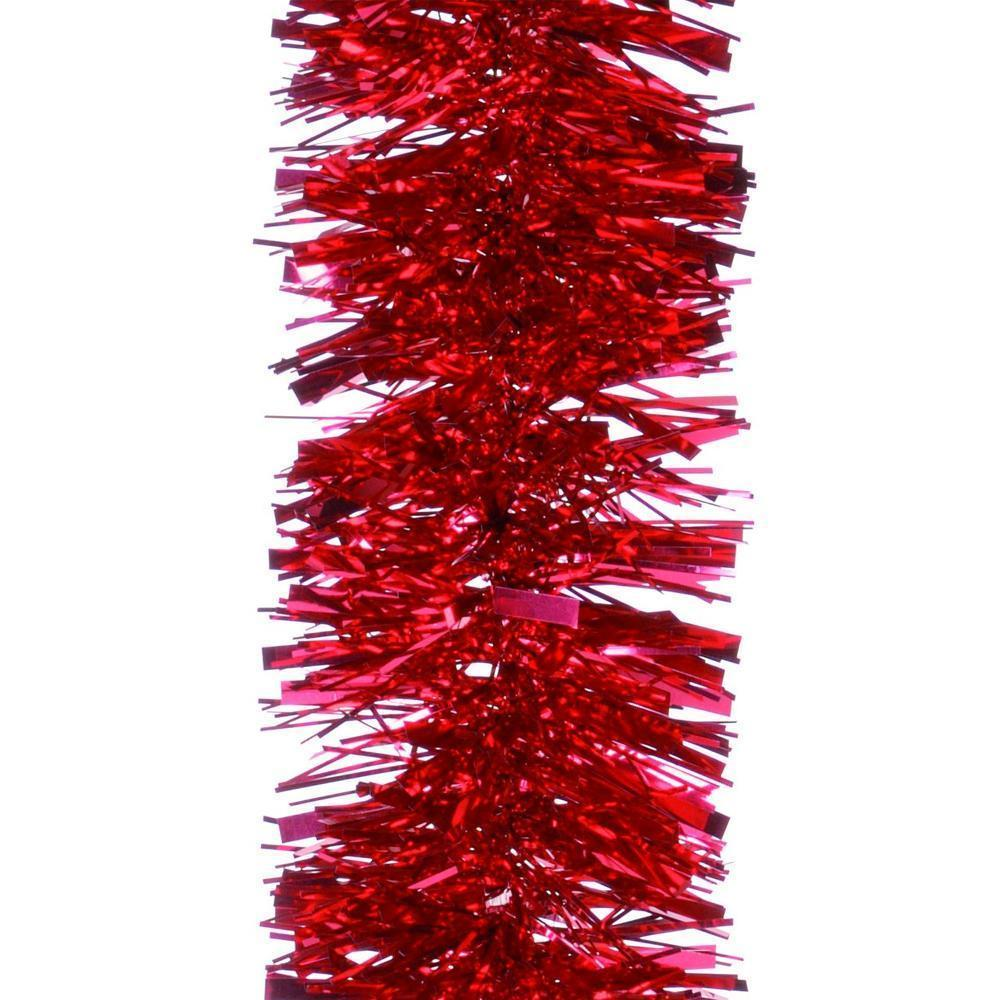 Christmas Tree Decoration Luxury Red Chunky Tinsel 2m