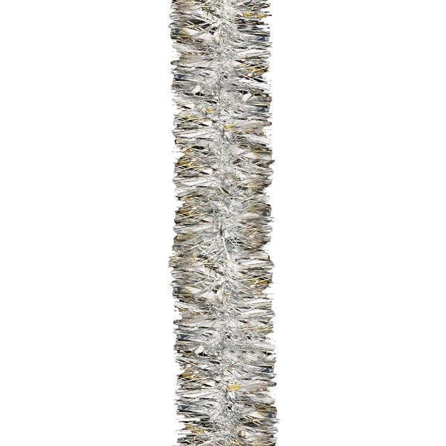 Christmas Tree Decoration Luxury Silver Chunky Tinsel 2m