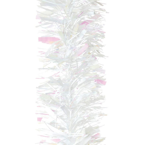 Christmas Tree Decoration Luxury White Chunky Tinsel 2m