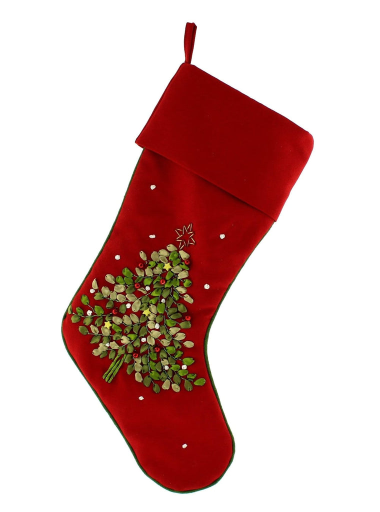 Christmas Tree Decoration Nordic Red Christmas Stocking
