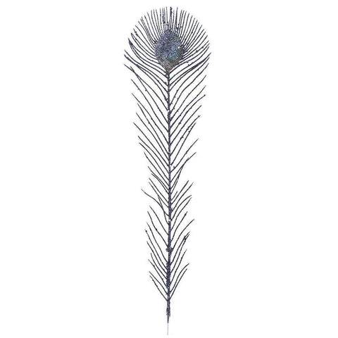 Christmas Tree Decoration Royal Peacock Blue Tree Feather