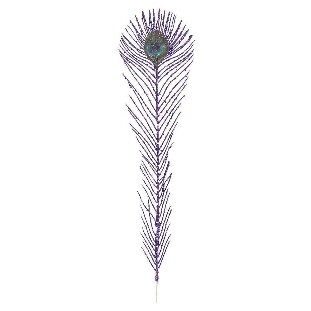 Christmas Tree Decoration Royal Peacock Purple Tree Feather