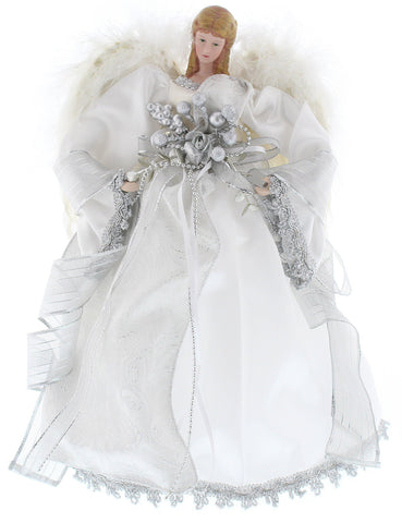 Christmas Tree Decoration White Feather Wings Tree Top Angel