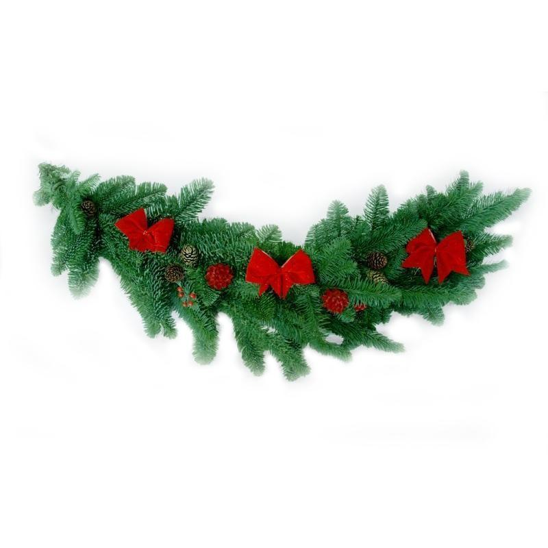 Decorated Real Christmas Garland - 3ft (1m) Long