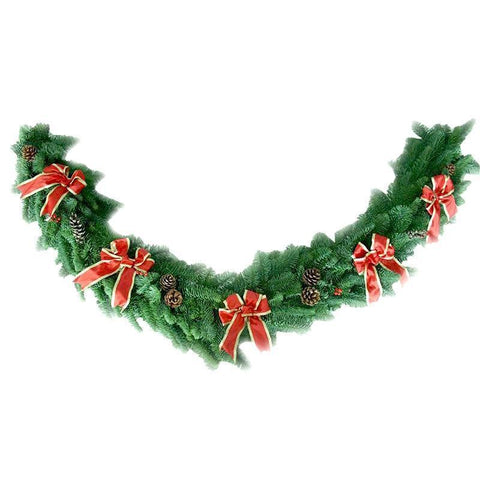 Decorated Real Christmas Garland - 6ft long - from Pines and Needles