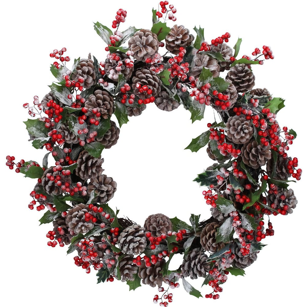 Frosted Berry Wreath Gisela Graham