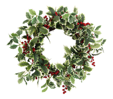 Gisela Graham Christmas Holly Wreath