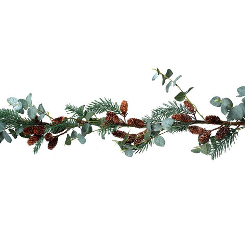 Gisela Graham Eucalyptus Fir Cone Garland from Pines and Needles