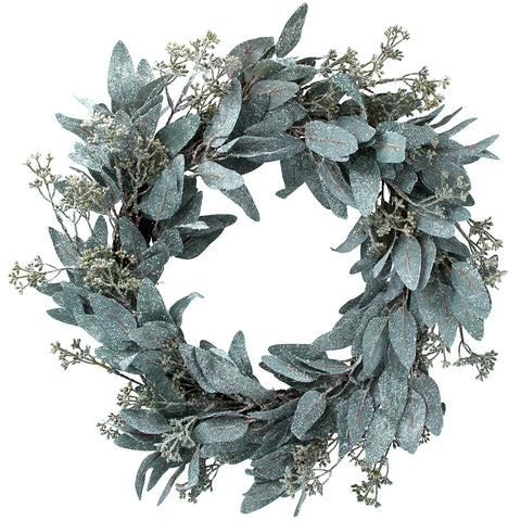 Gisela Graham Frosted Eucalyptus Wreath