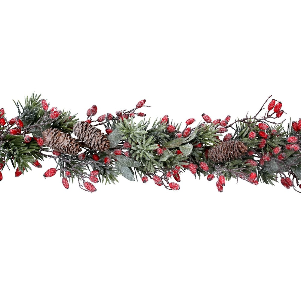 Gisela Graham Frosted Fir Rosehip Garland from Pines and Needles