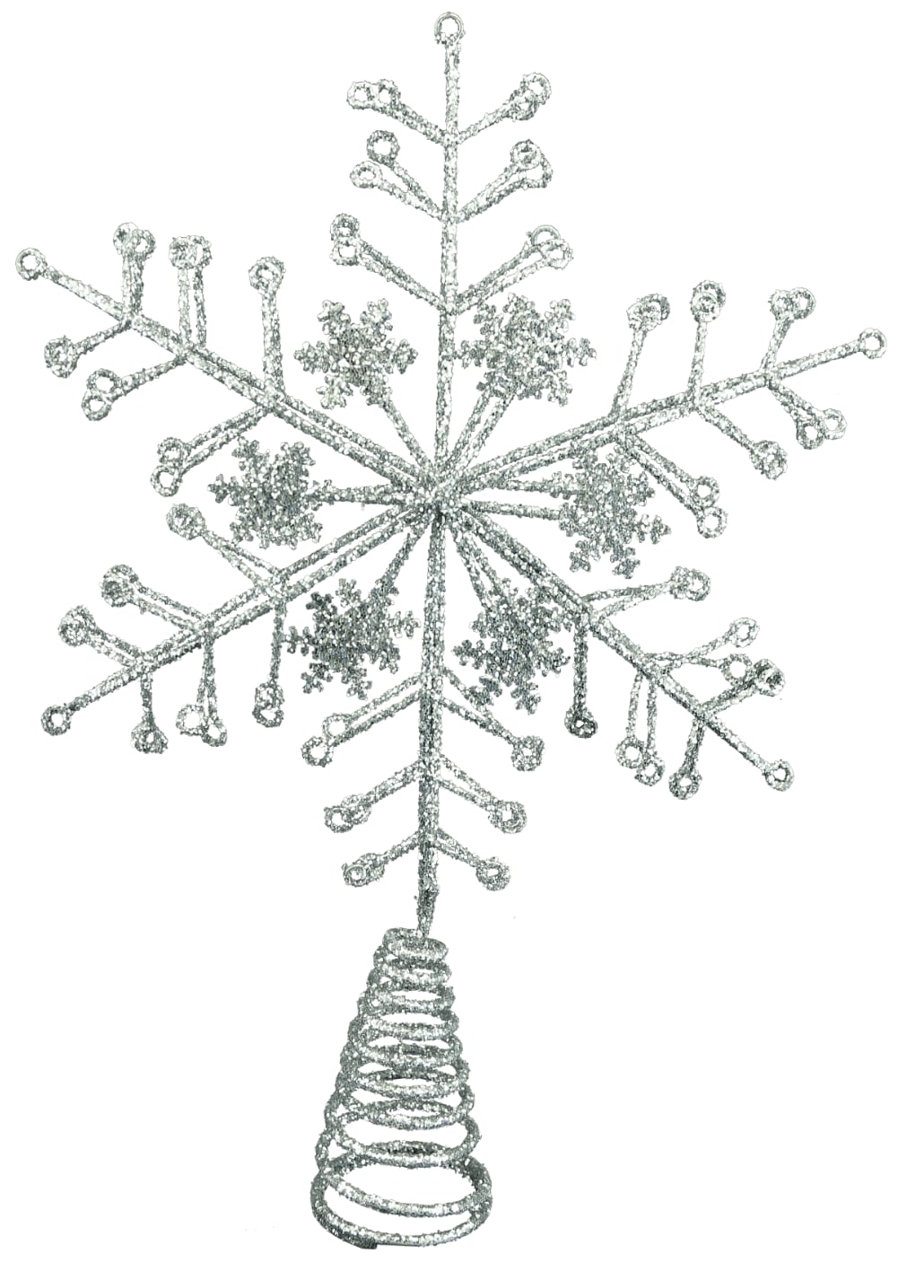 Gisela Graham Silver Snowflake Tree Topper from Pines and Needles
