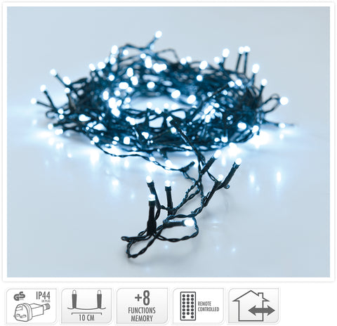 600 Ice White LED String Lights