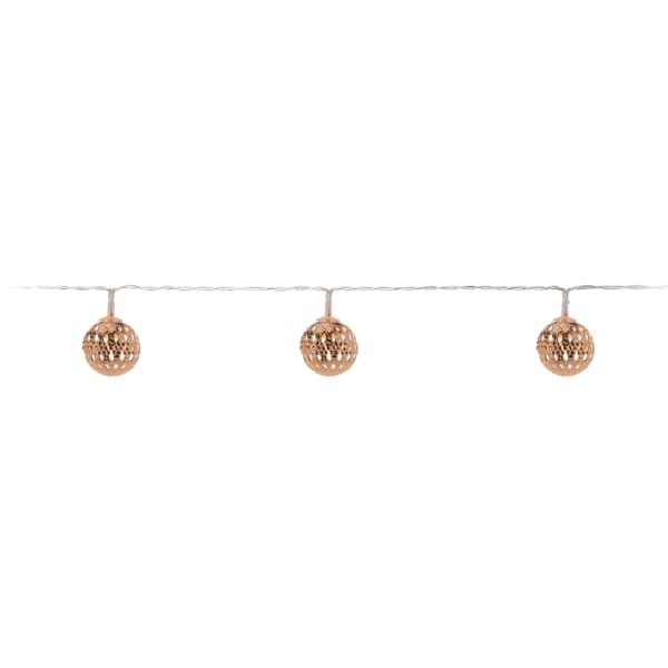 Mini Copper Decorative Bauble Light