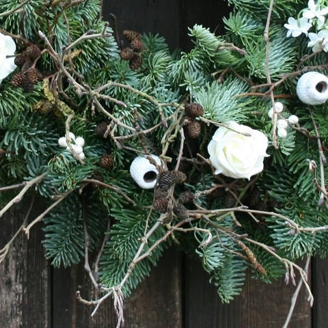 White Floral Garland - 6ft (2m) Long