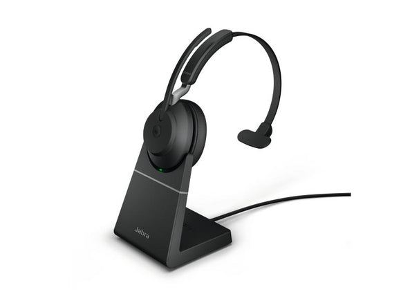 Jabra Headset Evolve2 65 Mono MS Schwarz, USB-A, Ladestation