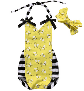 BLESS THE BEES ROMPER