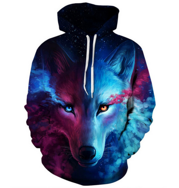 NIGHT EYES WOLF HOODIE