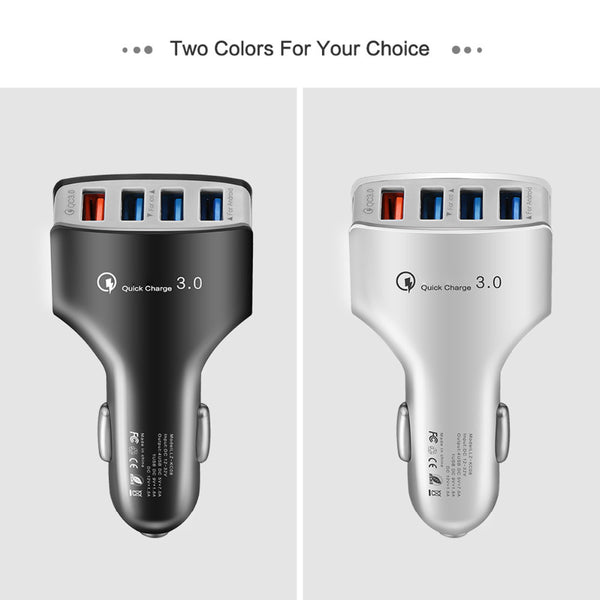 4 USB PORT CAR CHARGER