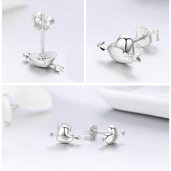 CUPID STERLING STUDS