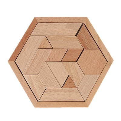 WOODEN HEXAGON TANGRAM