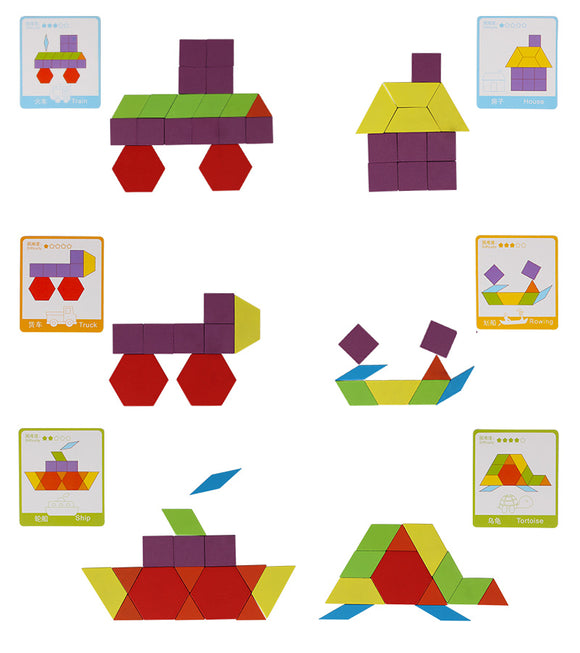 TANAGRAMS 130 PCS MONTESSORI