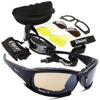 DURABLE OUTDOOR MILITARY SUNGLASS 4 LENS KIT