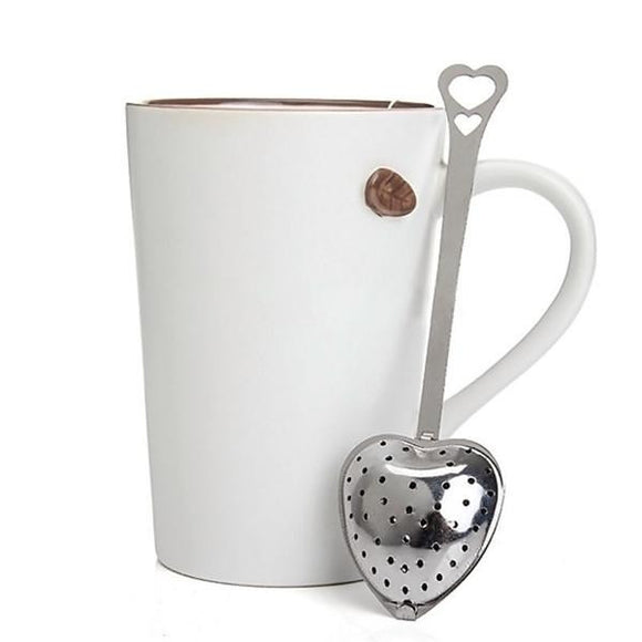 HEART TEA INFUSER SPOONS SET 10
