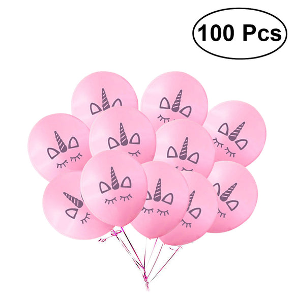 100 UNICORN BALLOONS