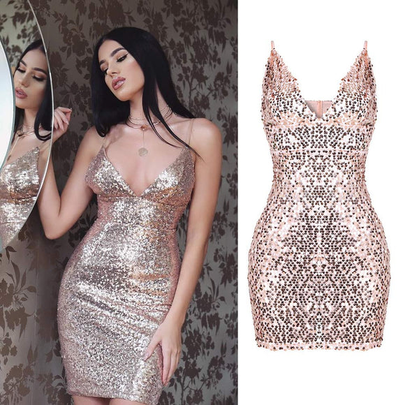 AN ESSENTIAL PINK SEQUIN DRESS