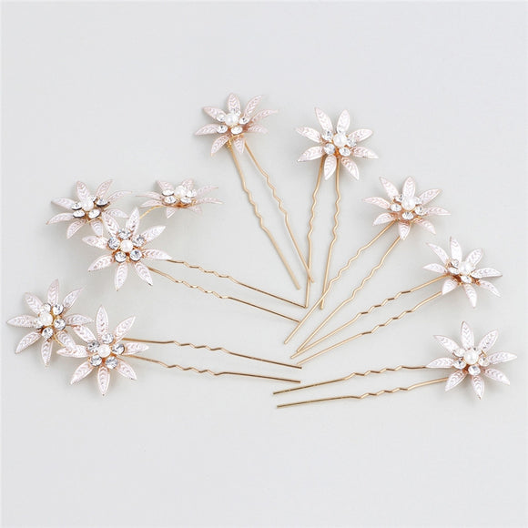 RHINESTONE HAIR FLOWERS