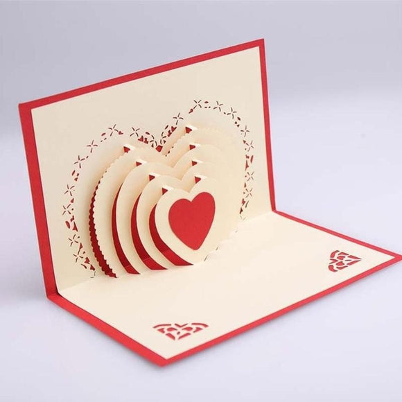 3-D ARTISAN LOVE CARD