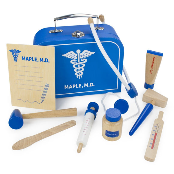 WOODEN MEDICAL KIT