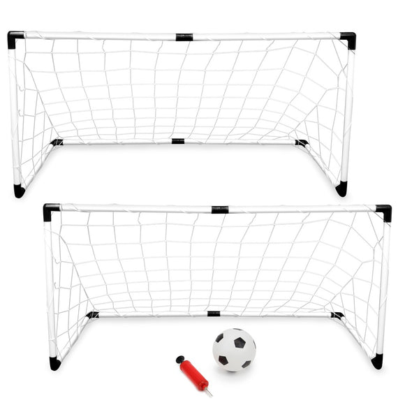 KIDS SOCCER SET (2 GOALS, 1 BALL, & 1 PUMP)