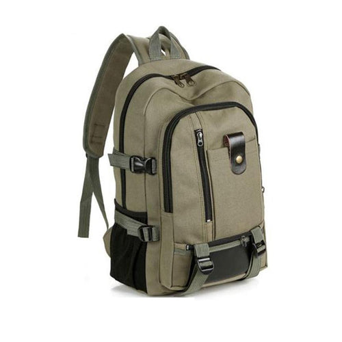 Men's Backpack Vintage Travel Canvas Leather Backpack   Rucksack Satchel School Men Bag mochila feminina #35