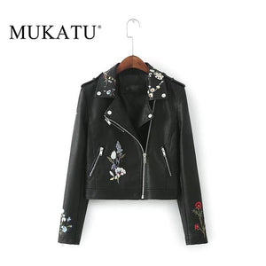 Autumn Women Faux Leather Jackets