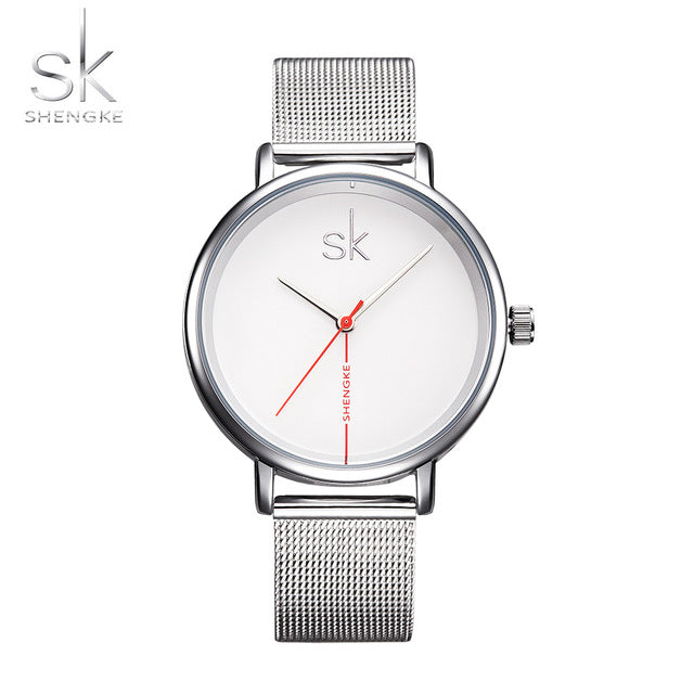 Shengke Brand Women Watches 2017 Creative Leather Watch Fashion Quartz Watch Women Waterproof Montre Femme Reloj Mujer