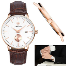 Tiannbu Handcrafted Ultrathin Date Small Second Plate Waterproof Wrist Watch
