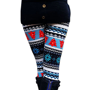 Casual Women Lady Skinny Xmas Print Stretchy Jegging Pants Slim Leggings