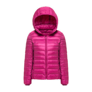 Woman Hooded Ultra Light Down Jackets