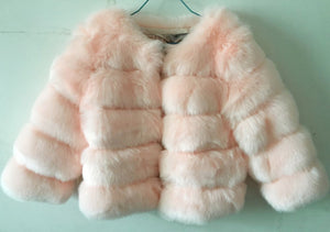S-3XL Mink Coats Women 2018 Winter New Fashion Pink FAUX Fur Coat Elegant Thick Warm Outerwear Fake Fur Jacket Chaquetas Mujer