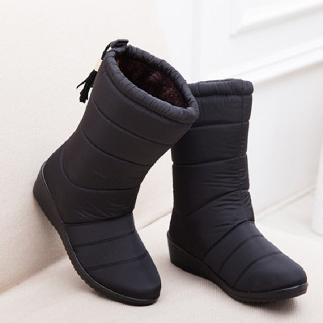 New Women Boots Female Down Winter Boots Waterproof Warm Ankle Snow Boots Ladies Shoes Woman Warm Fur Botas Mujer Casual Booties