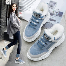 Shoes Winter Warm Platform Woman Snow Boots Plush Female Casual Sneakers Faux Suede Leather Female Snowboots Warm Shoes Fur