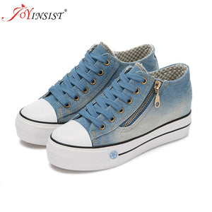 2019 Spring Denim Canvas Shoes Female Korean Version Thick Bottom shoes